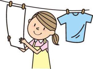 洗濯をしているイラスト